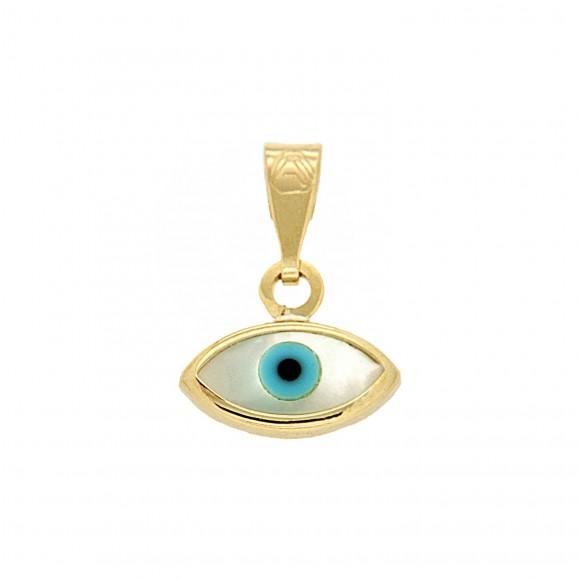 Μενταγιόν μάτι χρυσό κ375