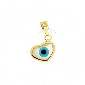 Μάτι χρυσό σε σχήμα καρδιάς, 9 καρατίων (κ375)