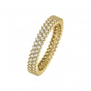 Δαχτυλίδι ολόβερο gold δίσειρο