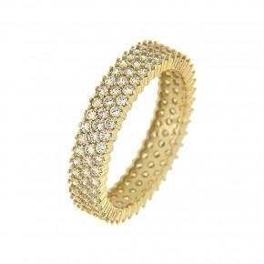 Δαχτυλίδι ολόβερο gold τρίσειρο
