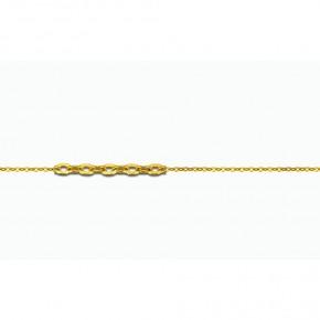 Αλυσίδα Forzetina χρυσή 40 εκατοστών, 14 καρατίων (κ585)