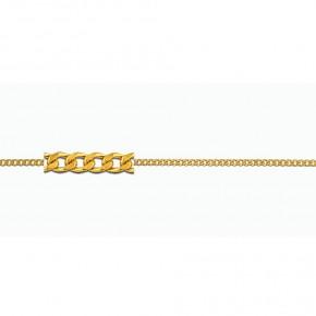 Αλυσίδα Gourmet σε κίτρινο χρυσό 40 εκατοστών, 9 καρατίων (κ375).