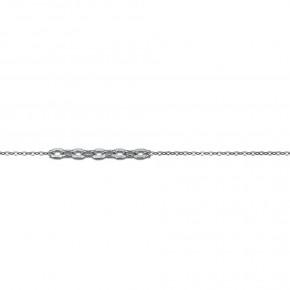Αλυσίδα Forzetina σε λευκόχρυσο 40 εκατοστών, 14 καρατίων (κ585)