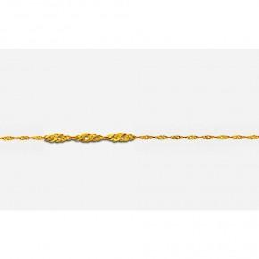 Αλυσίδα στριφτή σε κίτρινο χρυσό γυαλιστερή 14 καρατίων (κ585), 40 εκατοστών.