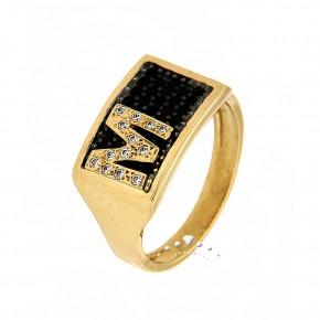 Δαχτυλίδι chevalier, με το μονόγραμμά σας, με ζιργκόν