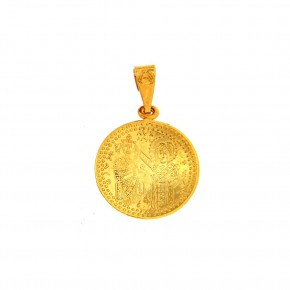 Κωνσταντινάτο στρόγγυλο σκέτο χρυσό Small