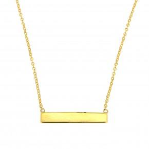 Κολιέ ταυτότηταα χρυσή με αλυσίδα Fortsetina K9