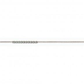 Αλυσίδα Spiga αραιή, 40 εκατοστών, λευκόχρυση 14 καρατίων (κ585).