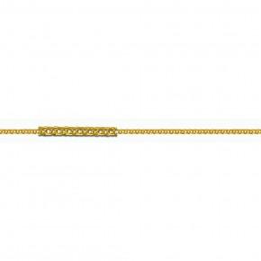 Αλυσίδα Spiga αραιή, 40 εκατοστών, από κίτρινο χρυσό 9 καρατίων (κ375).