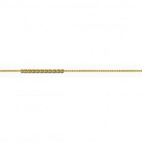 Αλυσίδα Spiga αραιή, 40 εκατοστών, χρυσή 14 καρατίων (κ585).