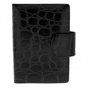 Δερμάτινη ατζέντα - organizer, από δέρμα croco print, χρώματος μαύρου, του Gianfranco Ferre κωδ. 8661.