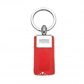 Δερμάτινη κλειδοθήκη Gianfranco Ferre, χρώματος κόκκινο, κωδ. 17392.