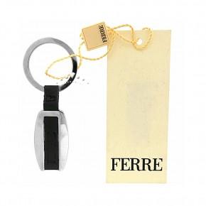 Μεταλλική κλειδοθήκη με μαύρο δέρμα, Gianfranco Ferre. Κωδικός 17569.