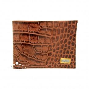 Δερμάτινο πορτοφόλι croco print, Gianfranco Ferre, χρώματος ταμπά. Κωδικός 18272 / SX0CGB-80559-U254.