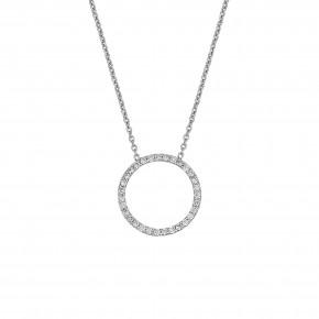 Κολιέ με διαμάντια, με ενσωματωμένη αλυσίδα, σε λευκόχρυσο 18 καρατίων (κ750).