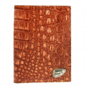 Πορτοφόλι από γνήσιο δέρμα, χρώματος camel, του οίκου Roberto Cavalli. κωδ. 60282
