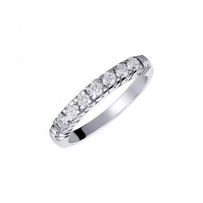 Δαχτυλίδι σειρέ με διαμάντια - μπριγιάν βάρους 0.14ct, ποιότητας F/VVS2, σε λευκόχρυσο 18 καρατίων.