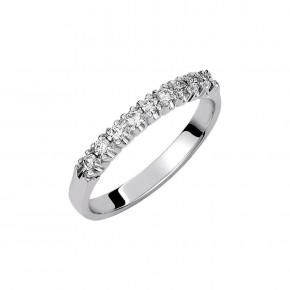 Δαχτυλίδι σειρέ με διαμάντια - μπριγιάν βάρους 0.20ct, ποιότητας F/VVS1, σε λευκόχρυσο 18 καρατίων.