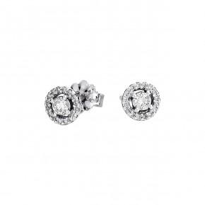 Σκουλαρίκια Diamonds ροζέτες