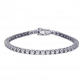 Βραχιόλι ριβιέρα (tennis bracelet)  με διαμάντια - μπριγιάν συνολικού βάρους 2.97ct, ποιότητας E/VS1, σε λευκόχρυσο 18 καρατίων.