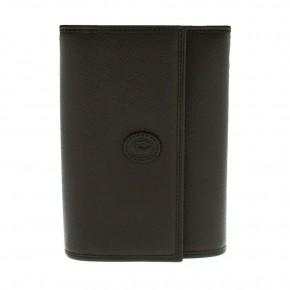 Δερμάτινο πορτοφόλι καφέ, Trussardi κωδ. 81159.