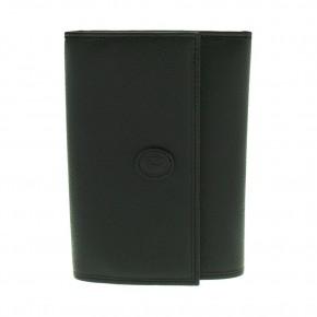 Δερμάτινο πορτοφόλι Trussardi, χρώματος μαύρου, κωδ. 81161.