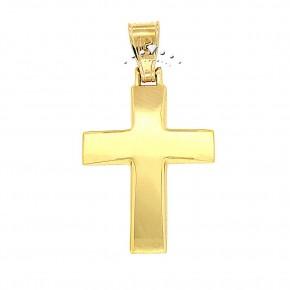 Σταυρός χρυσός γυαλιστερός, 9 καρατίων, κωδικός 45575