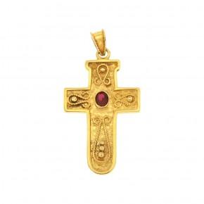 Βυζαντινός σταυρός με ρουμπίνι