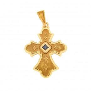 Βυζαντινός σταυρός με ζαφείρι ρόμβο