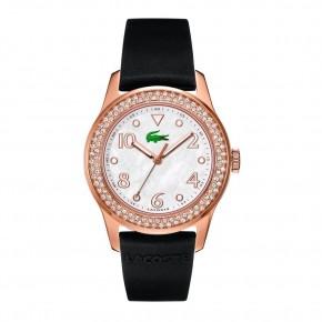 Ρολόι Lacoste ροζ χρυσό με πέτρες