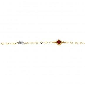Βραχιόλι κόκκινος σταυρός και χάντρες