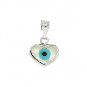 Μάτι λευκόχρυση καρδιά σκέτη