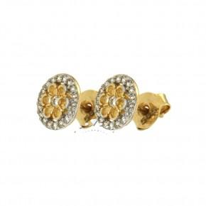Σκουλαρίκια χρυσές νιφάδες