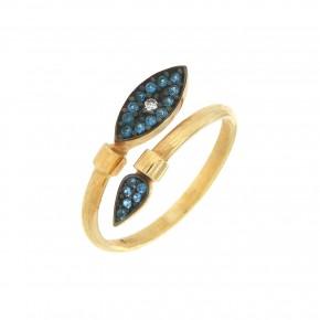 Δαχτυλίδι μάτι γαλάζιο