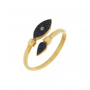 Δαχτυλίδι μάτι μπλε