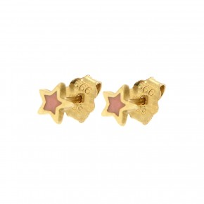 Σκουλαρίκια ροζ αστέρια