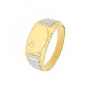 Ανδρικό δαχτυλίδι με πέτρα