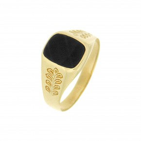Ανδρικό δαχτυλίδι σκαλιστό με όνυχα