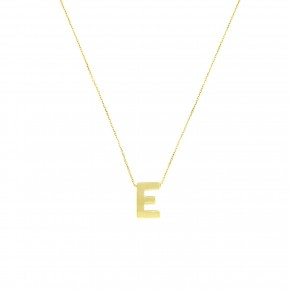 """Κολίε minimal με μονόγραμμα """"Ε"""""""