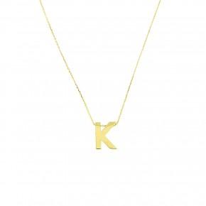 """Κολίε minimal με μονόγραμμα """"Κ"""""""
