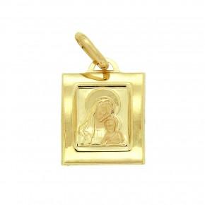 Κρεμαστό ορθογώνιο χρυσό