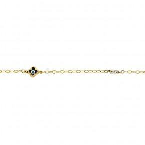 Βραχιόλι μαύρος σταυρός και χάντρες