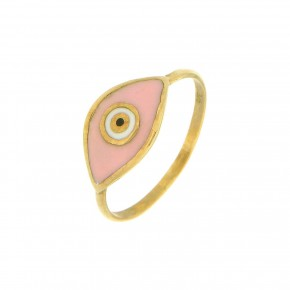 Δαχτυλίδι Smalto ροζ μάτι