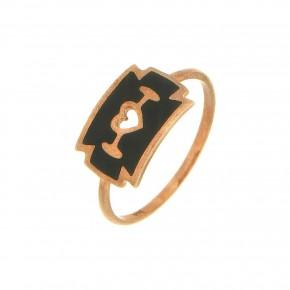 Δαχτυλίδι Smalto μαύρο