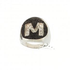 Δαχτυλίδι λευκόχρυσο chevalier οβάλ