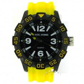 Ρολόι Angel Homme, με κίτρινο καυτσούκ