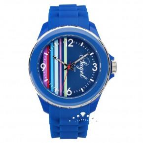 Ρολόι Angel, με μπλε καουτσούκ