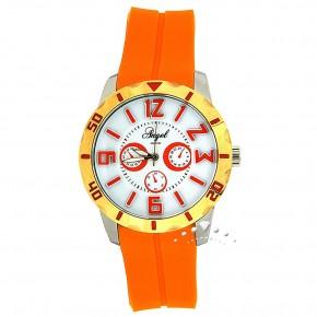 Ρολόι Angel, με πορτοκαλί καουτσούκ