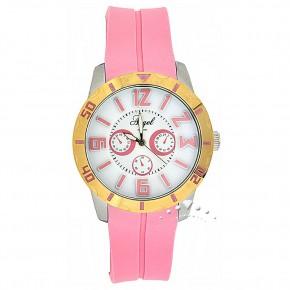 Ρολόι Angel, με ροζ καουτσούκ