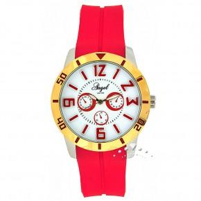 Ρολόι Angel, με κόκκινο καουτσούκ
